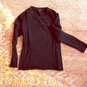 J. Crew navy cashmere crewneck long-sleeve sweater